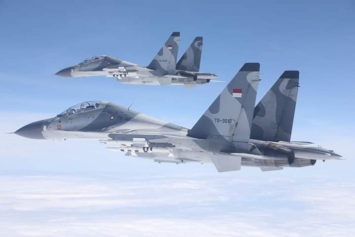 Indonesia Air Force Su 30 with R27 and R73 AAM