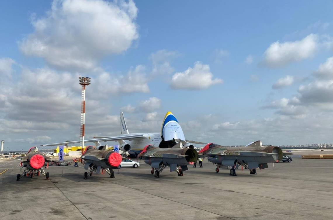 The shipment of four F-16s was loaded onto an Antonov cargo plane at the ministry's Department of Production and Procurement.