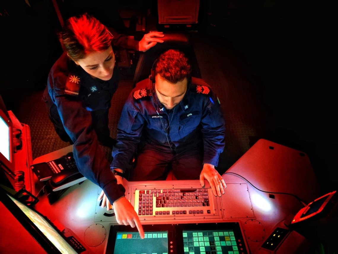 Crews aboard SNMG2 vessels are able to interrogate fused data giving them enhanced situational awareness of the maritime and air battlespace. Archive photo courtesy of SNMG2