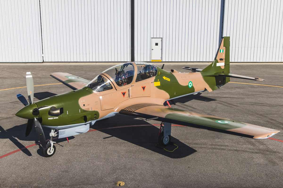 Nigerian Air Force A-29 Super Tucano Light Attack Aircraft
