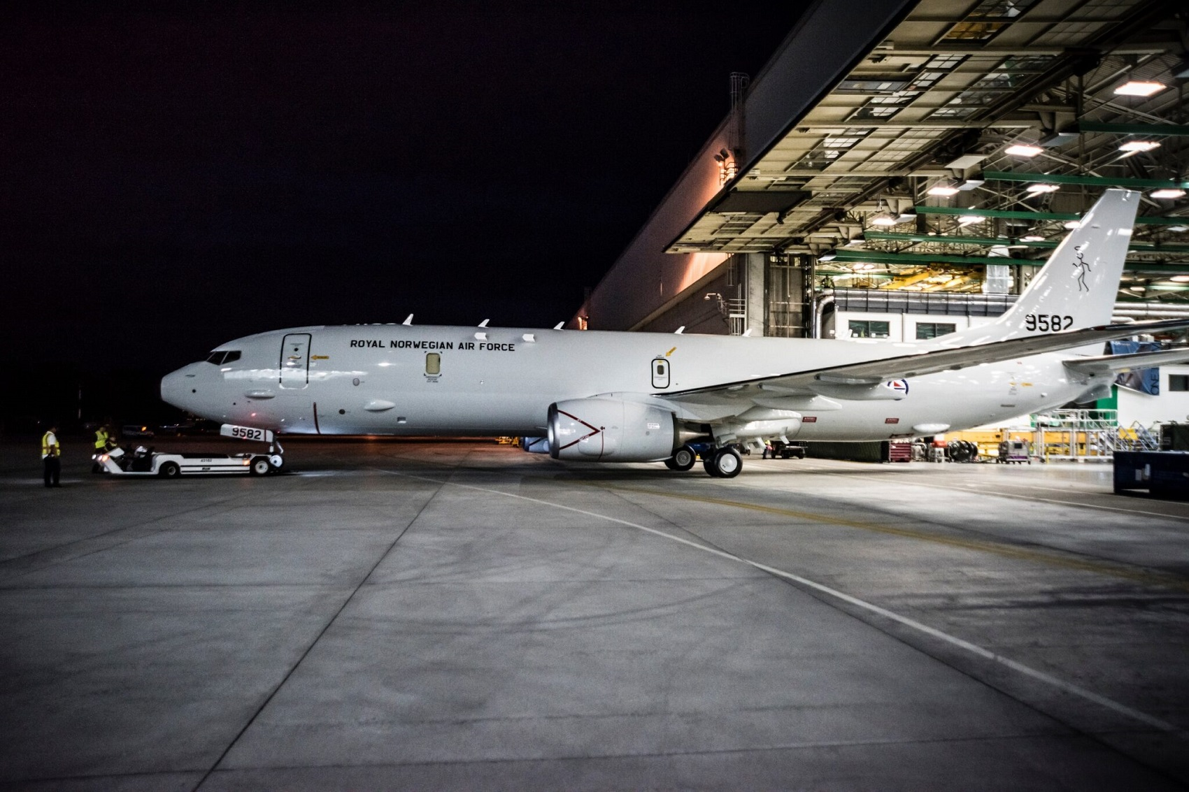 Norwegian Air Force's First Boeing P-8A Poseidon Rolls Out of the Paint Shop