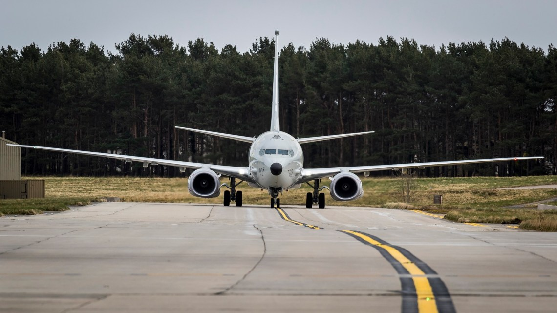 The Royal Air Force (RAF) has received the newest addition to the P-8A Poseidon fleet, City of Elgin ZP802.