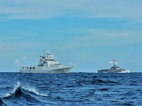 Republic of Singapore Navy RSS Fearless Conducts Passage Exercise Royal Brunei Navy KDB Darulehsan