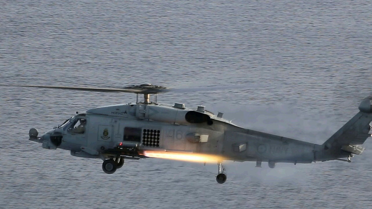 Royal Australian Navy 816 Squadron MH-60R Seahawk Helicopters Complete Exercise Tigerfish
