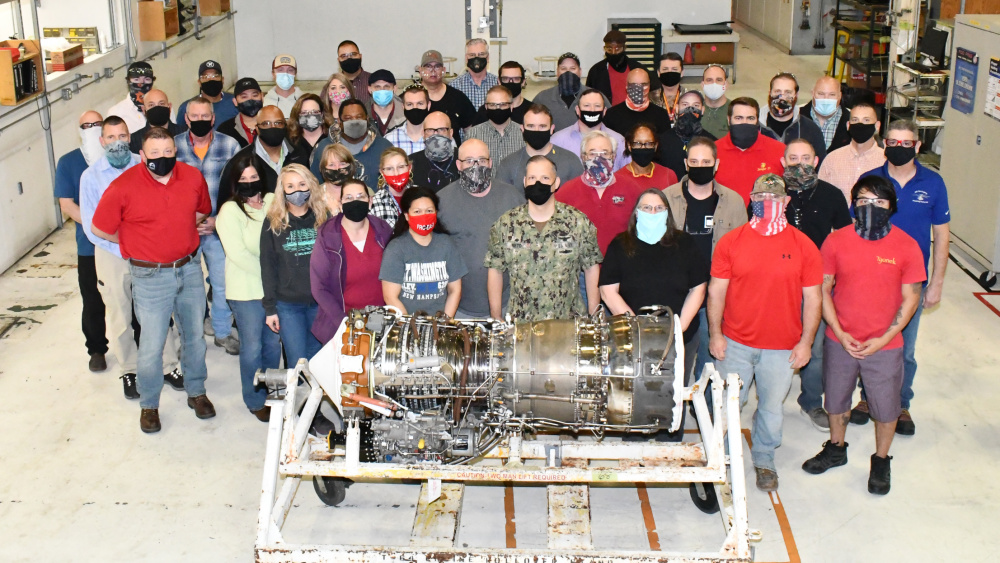 Naval Air Systems Command recognized the team for its exceptional efforts in lowering turnaround times for the T64 engine, which powers the CH-53 Super Stallion and MH-53 Sea Dragon, to 298 days from the negotiated turnaround time of 472 days.