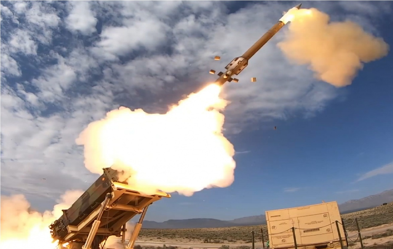 A Patriot Advanced Capability-3 (PAC-3) missile is launched during the recent successful Integrated Battle Command System (IBCS) flight test at White Sands Missile Range.