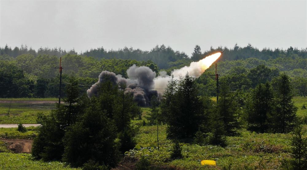 U.S. Army 17th Field Artillery Brigade M142 High Mobility Artillery Rocket System (HIMARS)