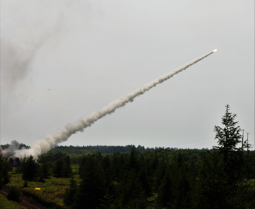 US Army HIMARS and Japan Ground Self-Defense Force MLRS Live Fire During Exercise Orient Shield 21-2