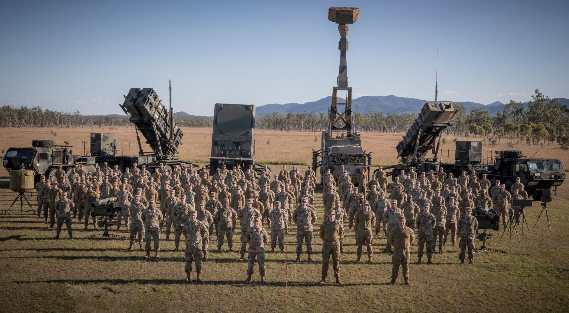 US Army's 38th Brigade, Air Defense Artillery, at the Patriot surface-to-air missile launch site during Exercise Talisman Sabre.