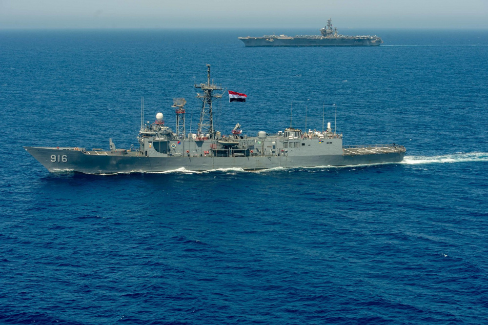 US Naval Forces Central Command Commander Joins Egyptian President in Welcoming New Egyptian Naval Base