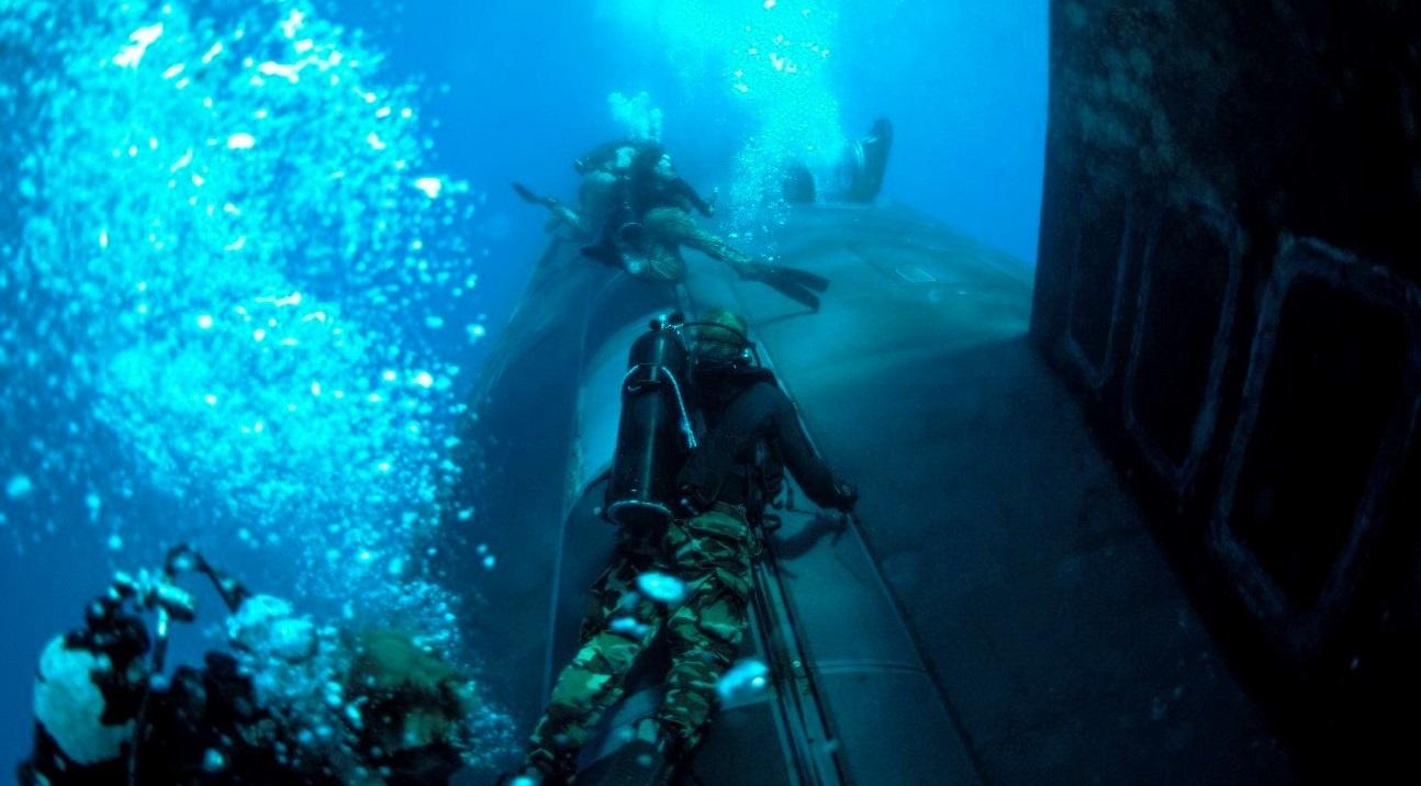 US Navy Sixth Fleet Submarine Trains With US Navy SEALs in Mediterranean Sea