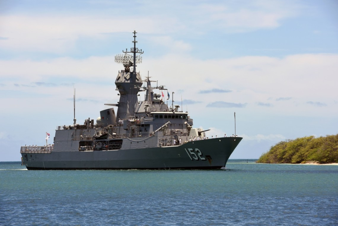 HMAS Warramunga (II) is the third of eight Anzac Class frigates built by Tenix Defence Systems at Williamstown, Victoria for the Royal Australian Navy. The design is based on the German Meko 200 frigate.