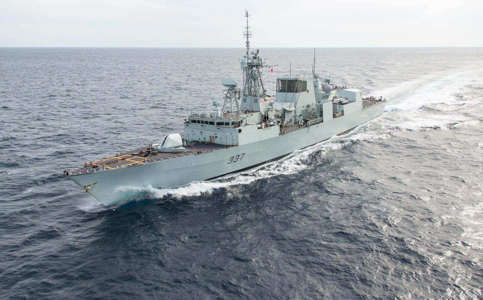 Halifax-class multi-role patrol frigate HMCS Fredericton