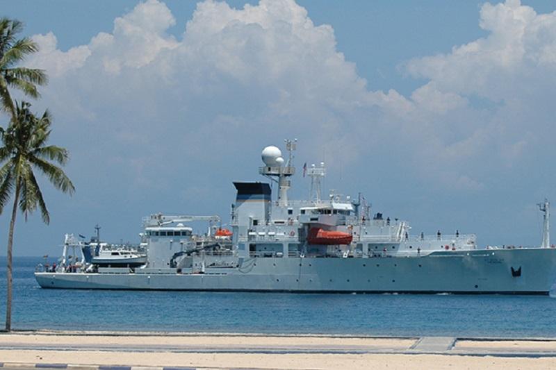 US Navy Military Sealift Command oceanographic survey ship USNS Henson (T-AGS-63)
