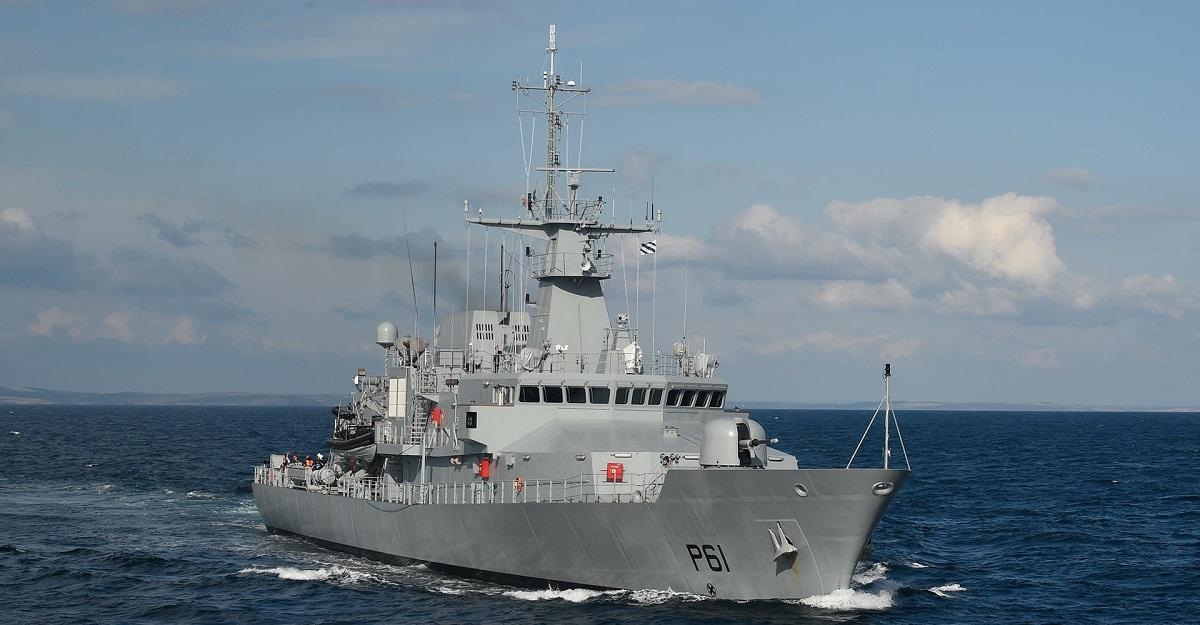 Irish Navy Samuel Beckett (P61)offshore patrol vessel