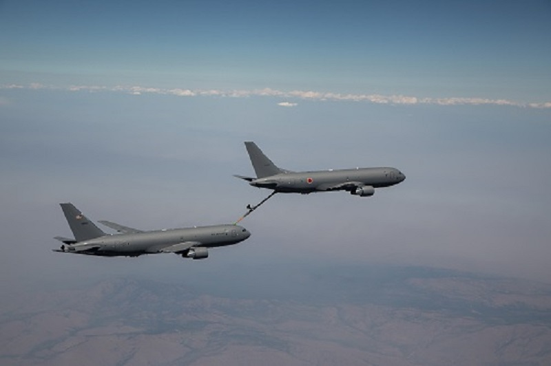 Boeing KC-46A Tanker for Japan Air Self-Defense Force Completes First Refueling Flight