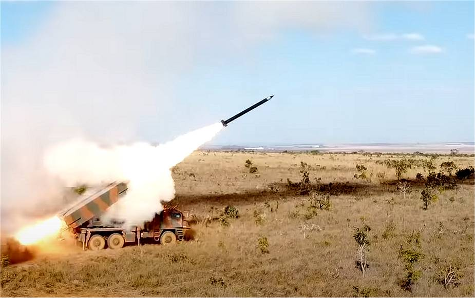 Brazilian Army ASTROS ll MRLS Conducts First Live-fire Test of SS-60 Rocket