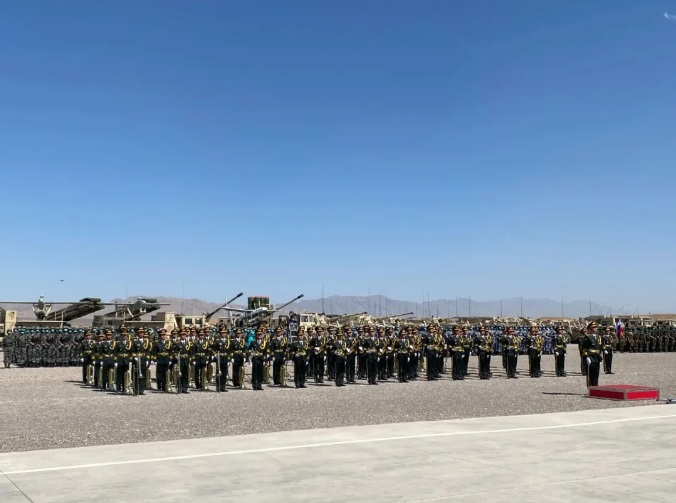 The exercise ZAPAD/INTERACTION-2021 kicks off at a combined arms tactical training base of the PLA Army in Qingtongxia City of West China's Ningxia Hui Autonomous Region on August 9, 2021.