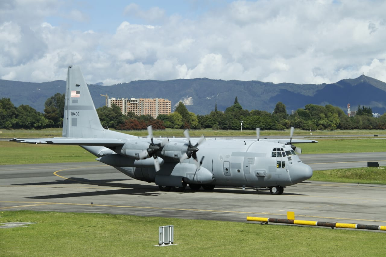 Colombian Air Force Receives Two Lockheed C-130H Hercules Military Transports