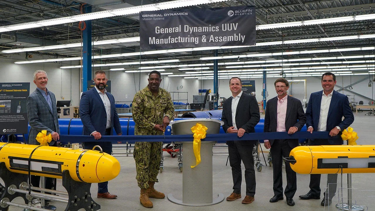 General Dynamics Mission Systems (GDMS) Opens New UUV Manufacturing and Assembly Center of Excellence.