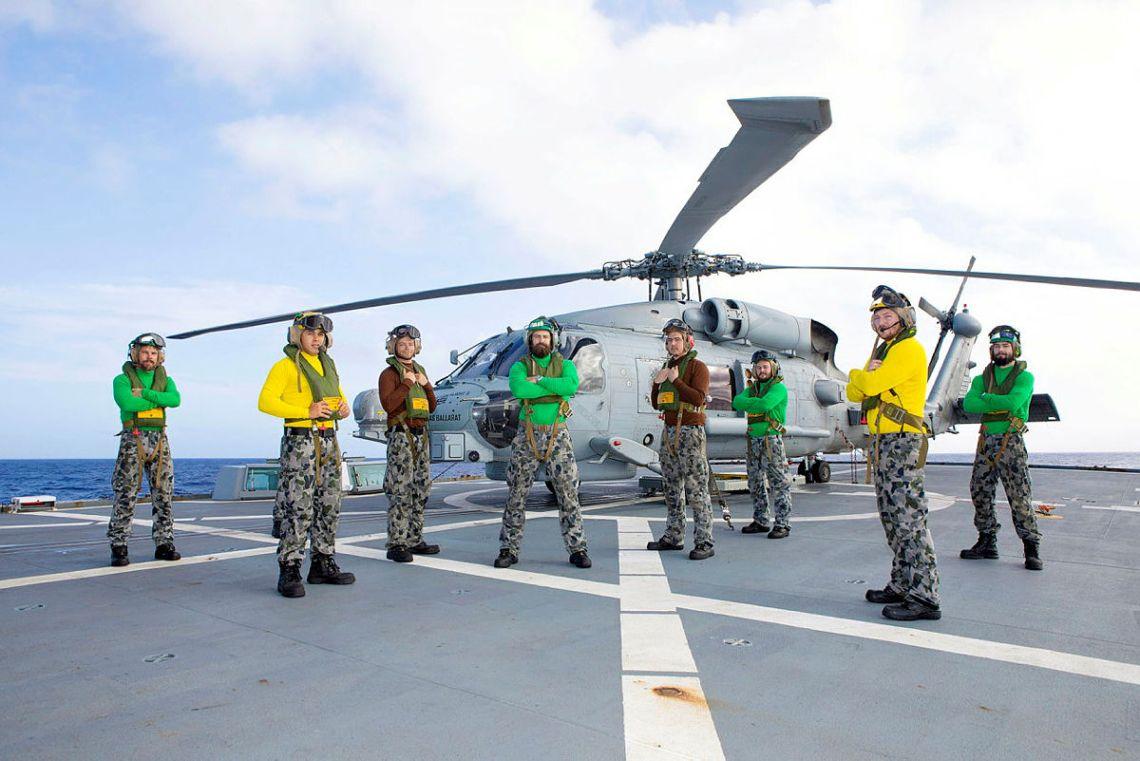 Royal Australian Navy HMAS Ballarat's Sikorsky MH-60R Seahawk Serves 1000 Hours