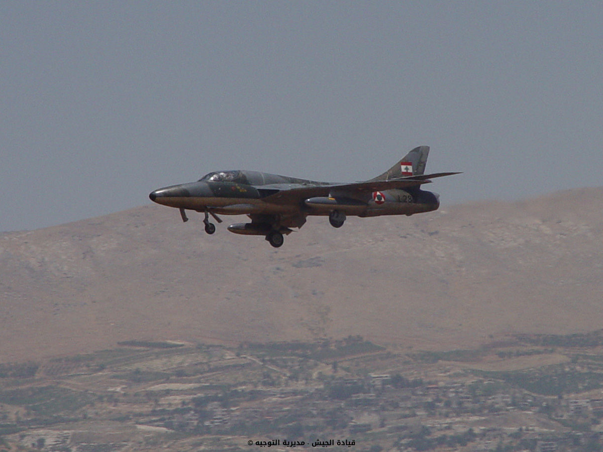 Lebanese Air Force Hawker Hunter fighter