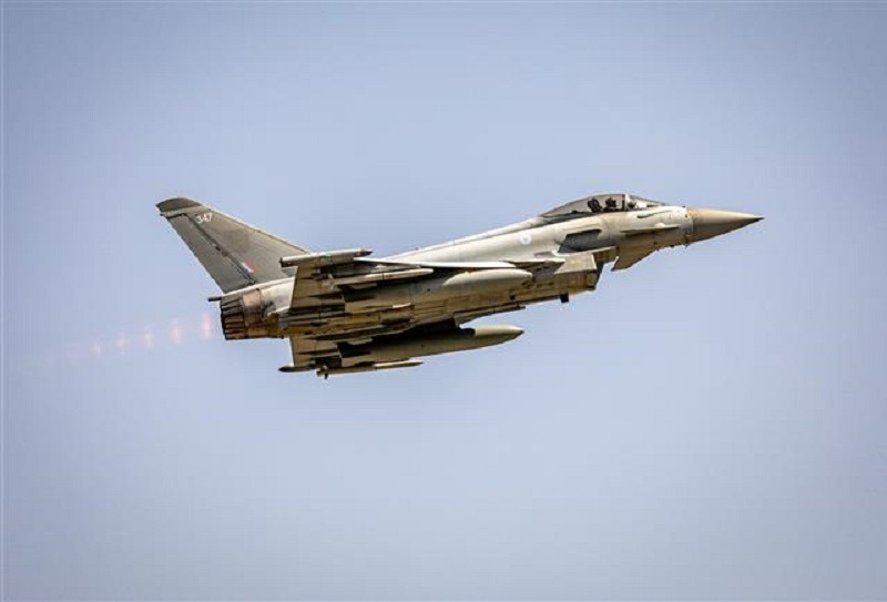 NATO Typhoon Fighters Launch Quick Reaction Alert for Russian Aircraft in the Southern Black Sea
