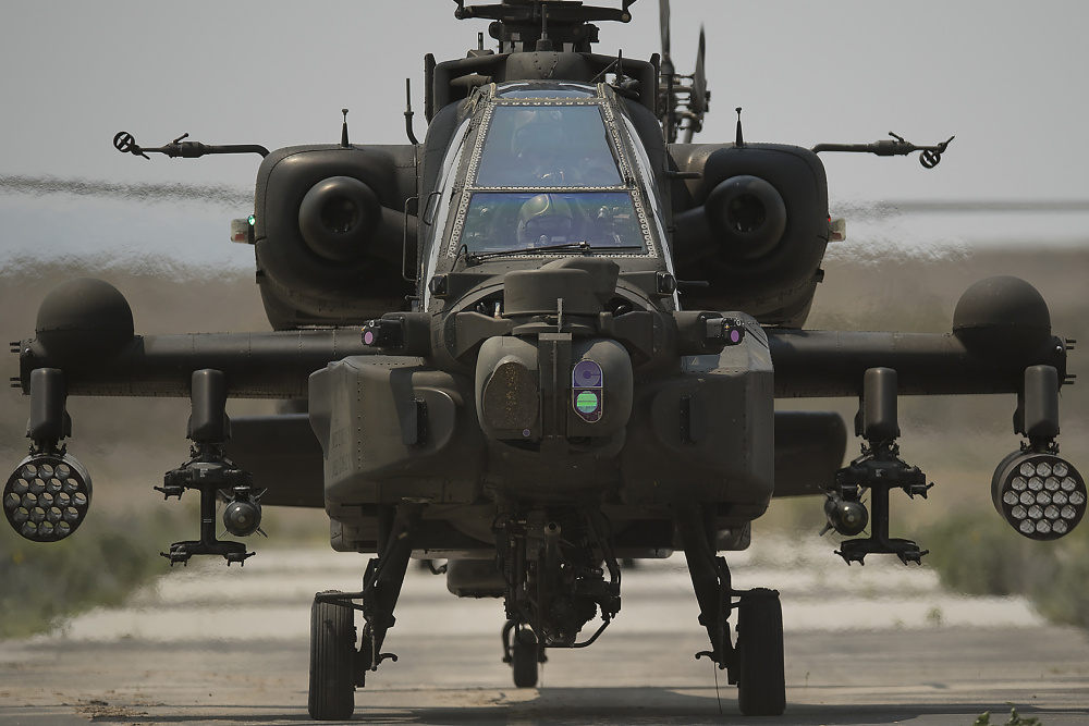 Based in Arizona, The Singapore contingent operates eight AH-64 Apache Helicopters as part of the Peace Vanguard Task Force.