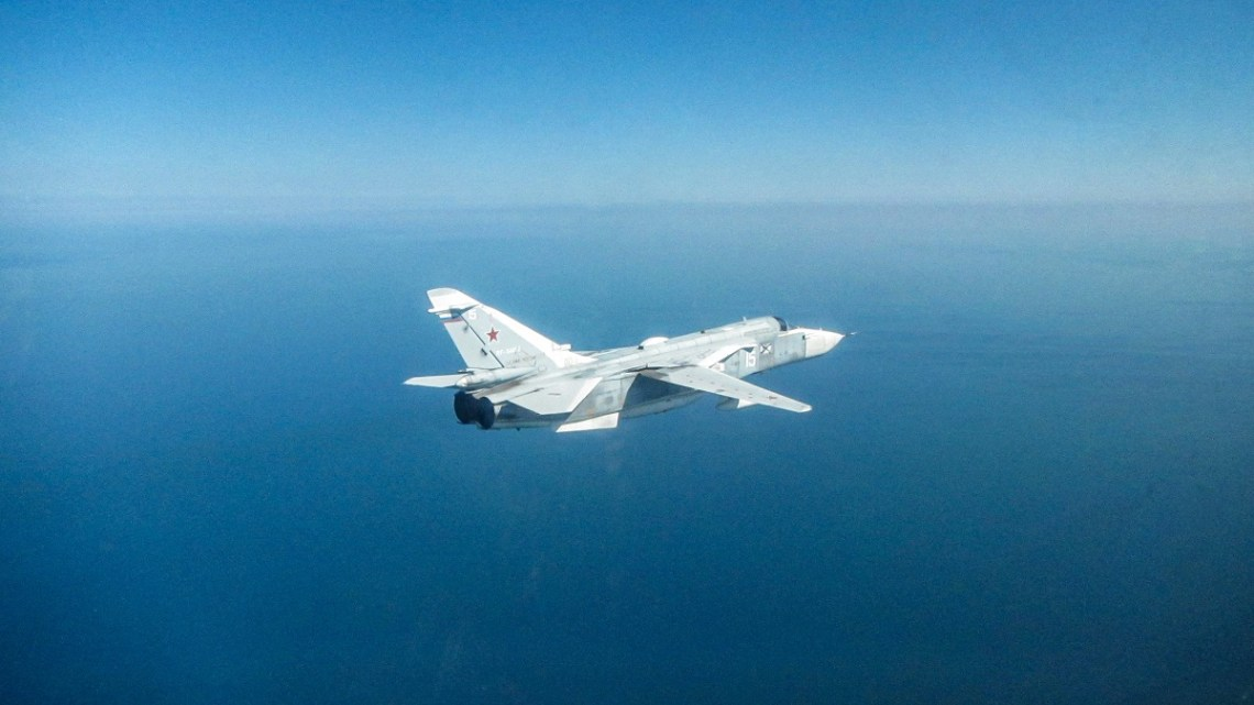Royal Air Force Eurofighter Typhoons in Romania Intercept Russian Fighter