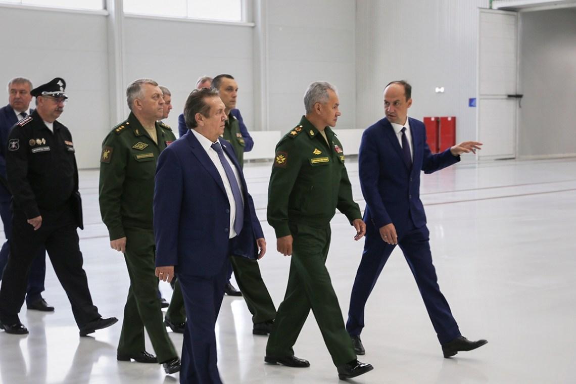 The  Minister of Defence of the Russian Federation Sergey Shoigur visited the Krasnoyarsk Machine-Building Plant 'Krasmash' on Friday to inspect the production workshops