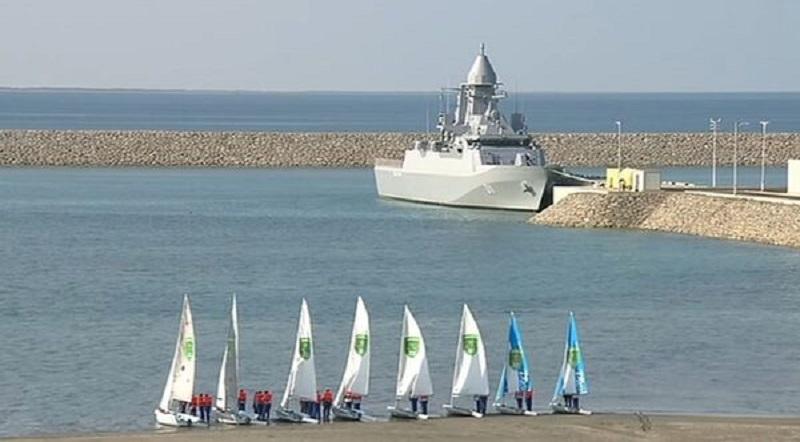 Turkmen Naval Forces Commissions Its First Turkmen-Class Corvette Deniz Han