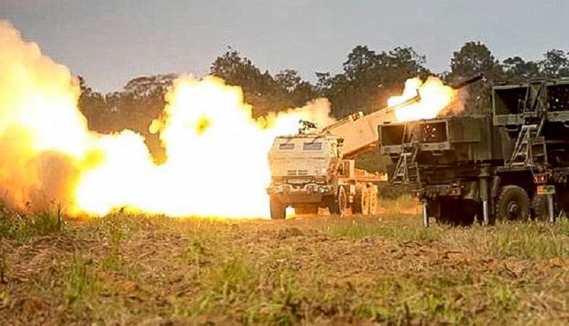 ASTROS dan HIMARS Combine Armed Live Fire Exercise (CALFEX) as part of Garuda Shield 2021.