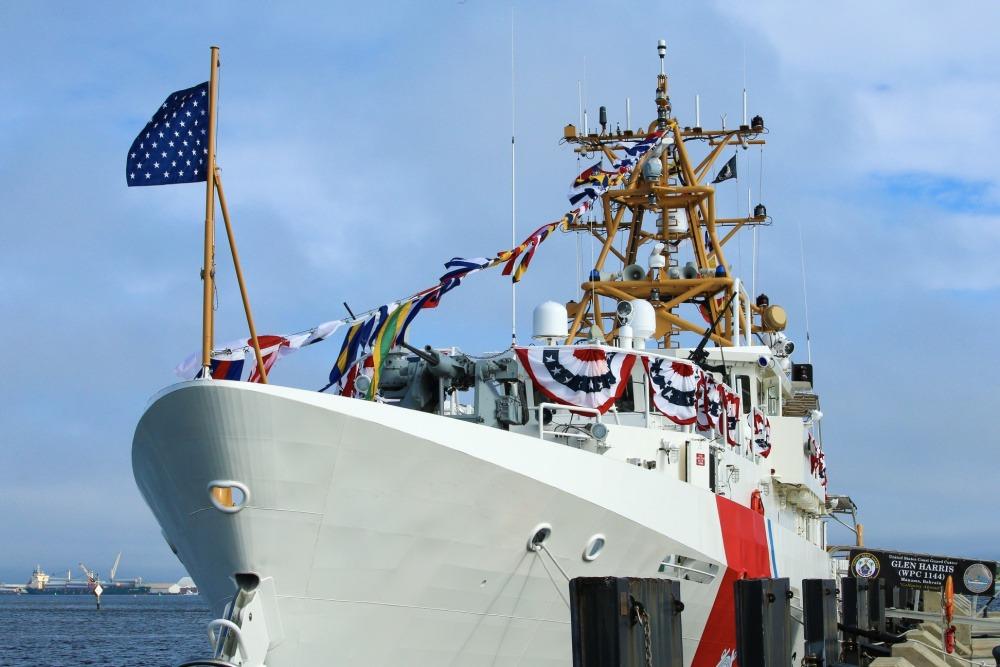 US Coast Guard commissions 44th Fast Response Cutter USCGC Glen Harris (WPC 1144)
