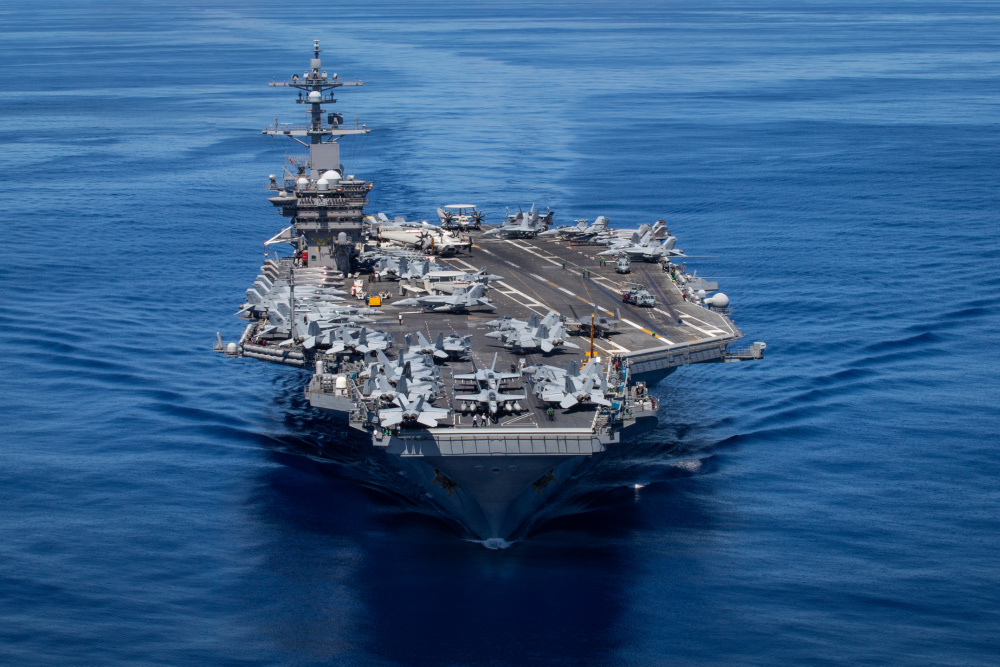 U.S. Navy Nimitz-class aircraft carrier USS Carl Vinson (CVN 70)
