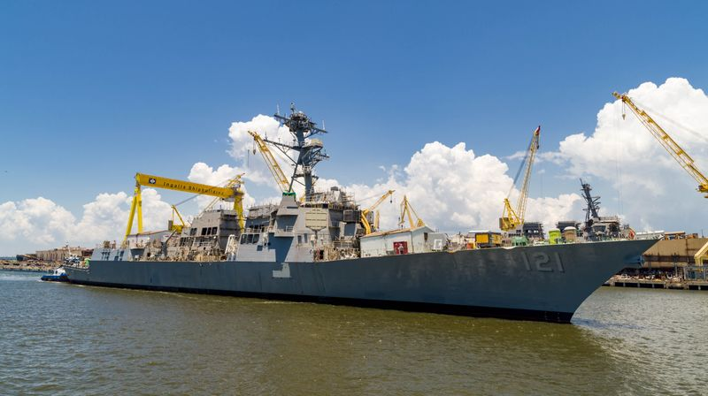 HII's Ingalls Shipbuilding division successfully launched the Arleigh Burke-class destroyer Frank E. Petersen Jr. (DDG 121) on Friday