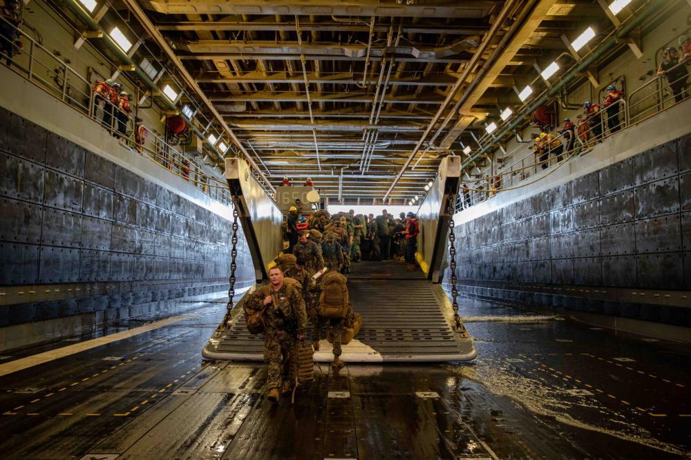US Navy San Antonio-class Amphibious Transport Dock USS Arlington Arrives in Haiti to Support USAID