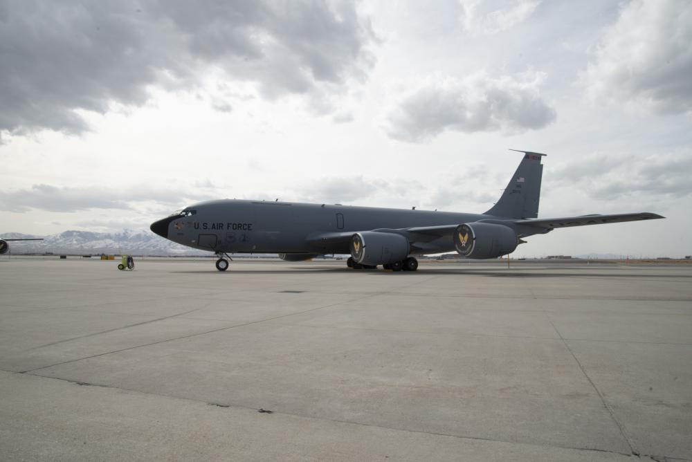 The Utah Air National Guard's Aircraft 0275 is the first and only Block 45 RTIC modified KC-135 to date.