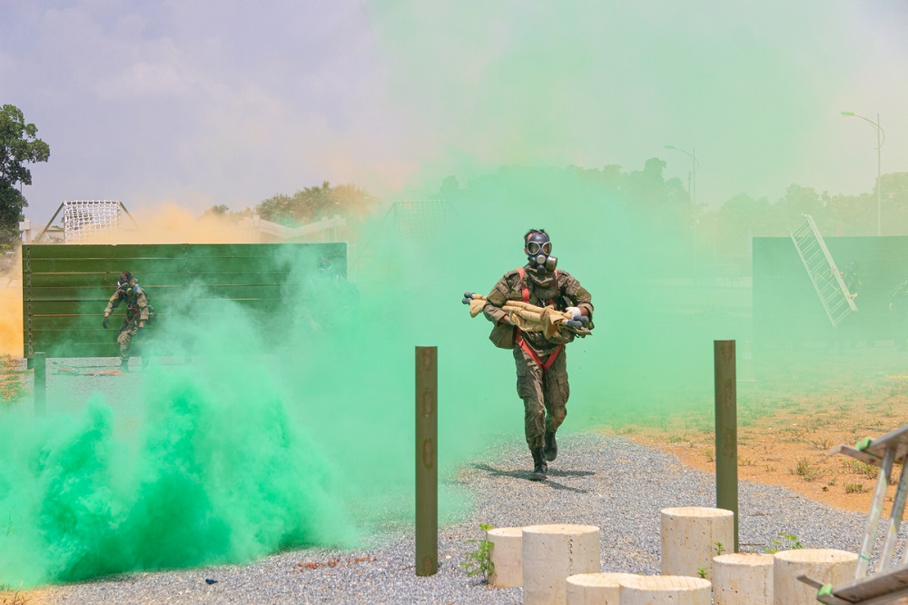 """""""Emergency Area"""" Military Competition Kicks-off in Hanoi City, Vietnam"""
