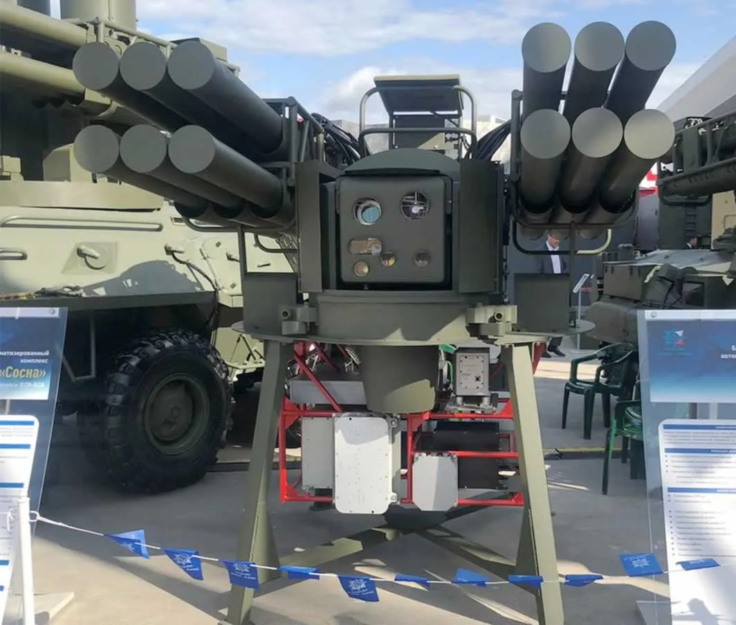 The Sosna combat module consisting of 12 laser-guided Sosna-R missiles and an optronic station.