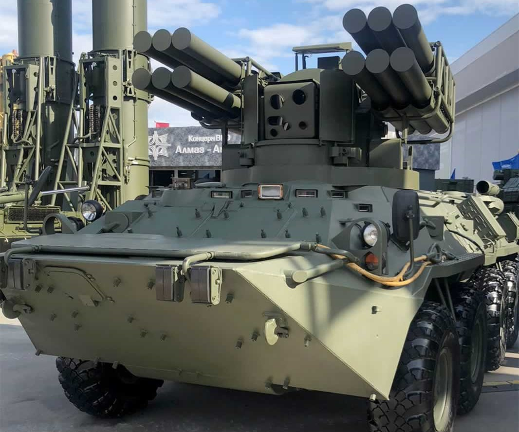 KBtochmash Unveils Its Sosna SAM System on BTR-82A 8x8 Armoured Personnel Carrier