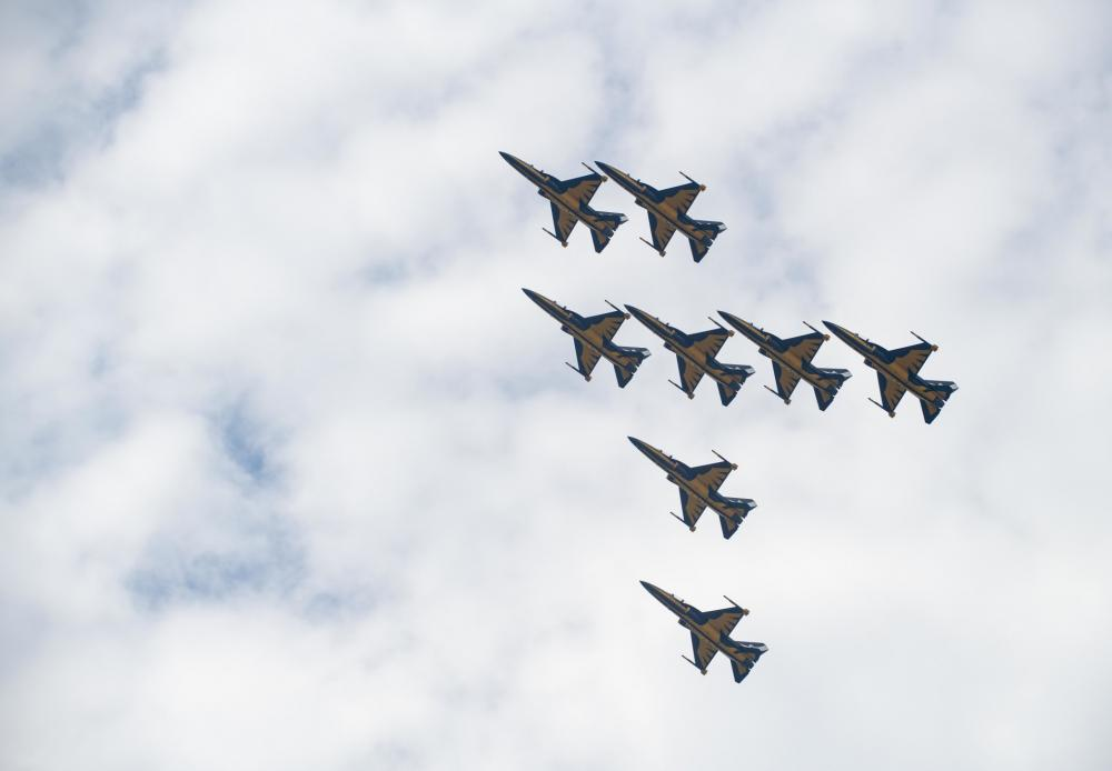 Republic of Korea Air Force Black Eagles Perform Over Kunsan Air Base for The First Time