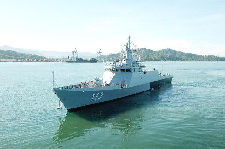 Royal Malaysian Navy Littoral Mission Ship KD Badik Arrives at Sepanggar Bay Naval Base, Sabah