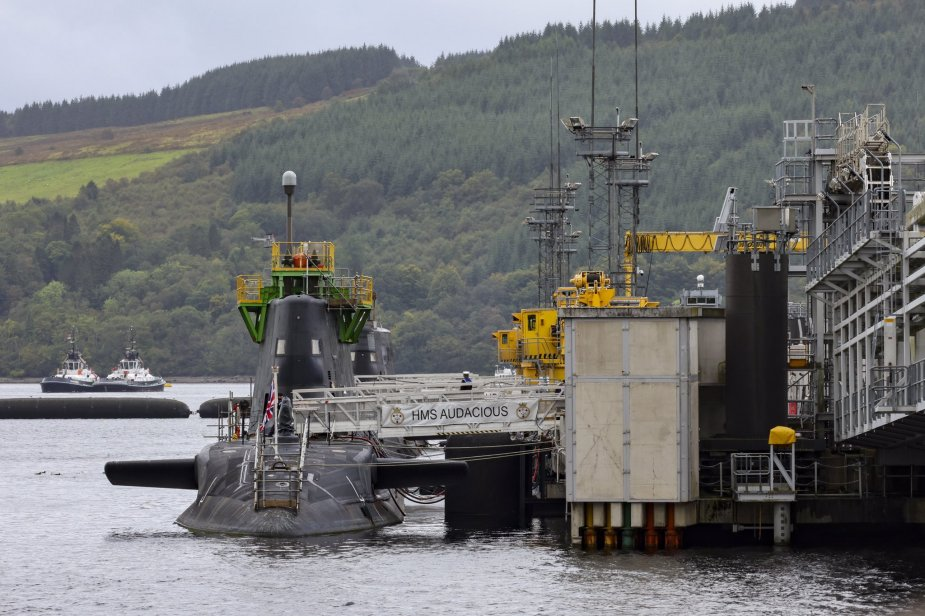 Royal Navy Comissions Astute-class Attack Submarine HMS Audacious (S122)