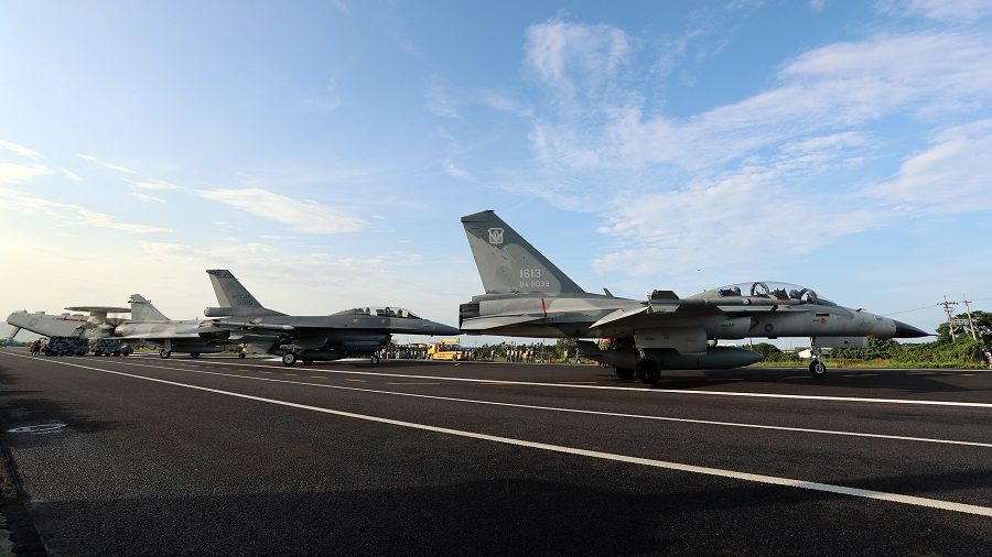 Taiwan Air Force Aircrafts Land on Highway for Chinese Invasion Wargame