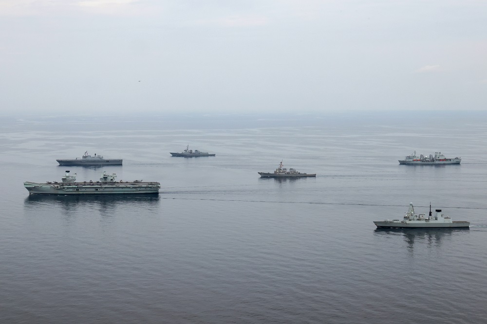 The UK CSG's latest foray has seen them work alongside ships from the Republic of Korea Navy during three days of events near Busan, which included joint maritime manoeuvres