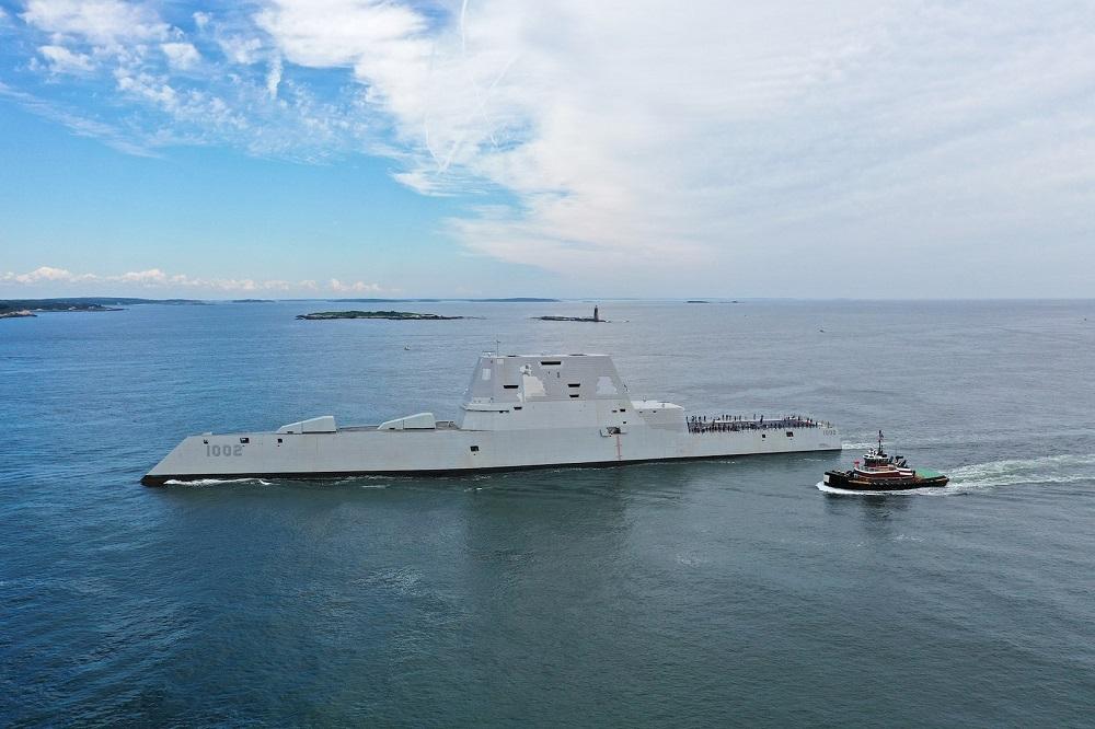 US Navy's Future USS Lyndon B. Johnson (DDG-1002) Conducts Builder's Trials