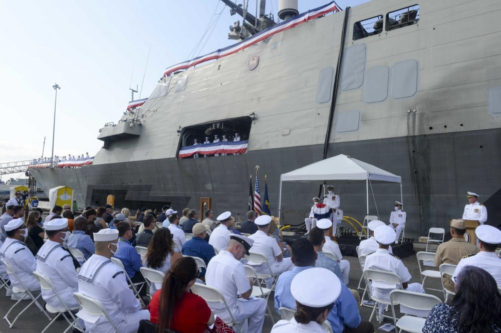 US Navy USS Freedom (Littoral Combat Ship 1) Holds Decommissioning Ceremony