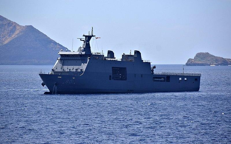 Philippine Navy landing platform docks BRP Tarlac (LD-601)