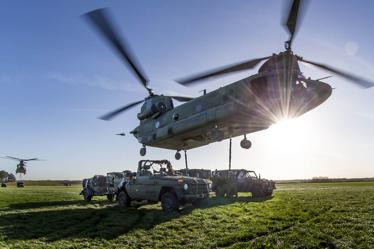 Royal Netherlands Air Force Boeing CH-47 Chinook Heavy-lift Helicopters