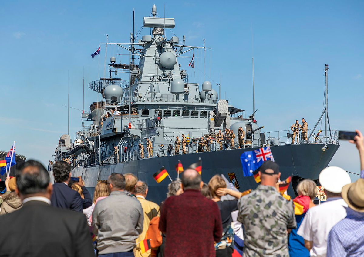 German Navy Ship FGS Bayern Visits Australia as part of Indo-Pacific Voyage